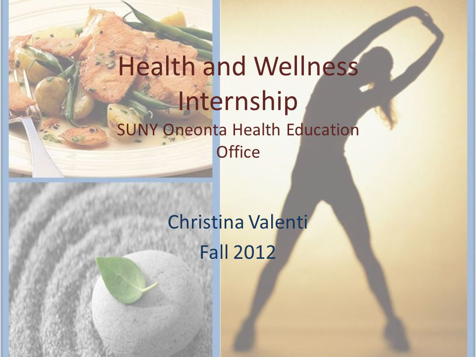 Internship Overview 120 Hours located both inside and outside the office of Health Education Under the supervision of Rebecca Harrington, campus health educator Worked on many activities for the Office of Health Education regarding various health issues.