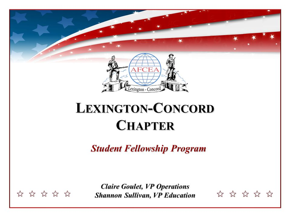 AFCEA Education Summit May 2012 2 Established in1961: 730 Students; $750,000 Scholarships Graduating seniors receive a 10-week summer internship and $1000-$1500 award.