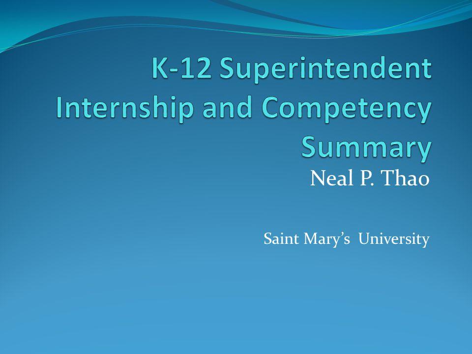 Neal P. Thao Saint Mary's University