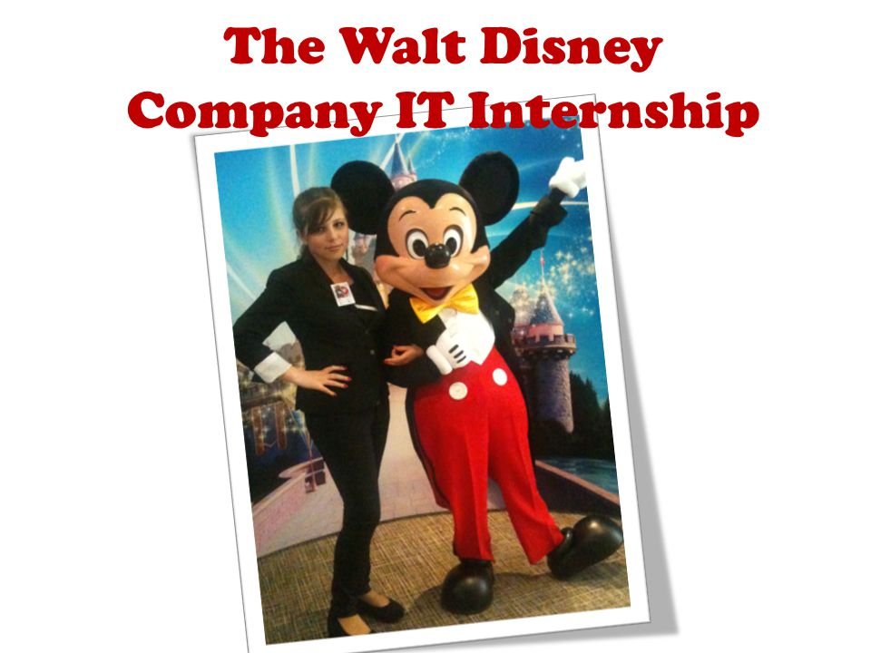 The Walt Disney Company IT Internship