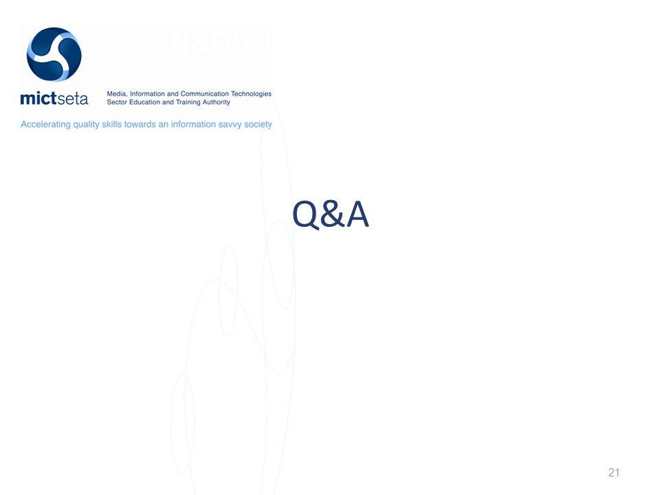 NSDS Target Q&A 21