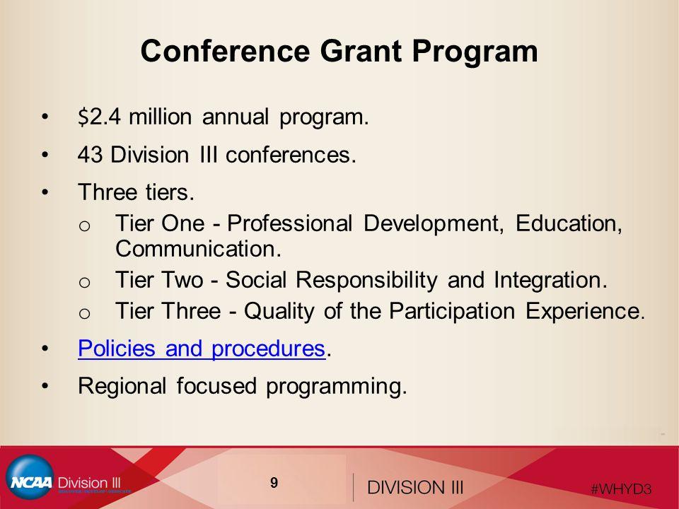 Conference Grant Program $ 2.4 million annual program.