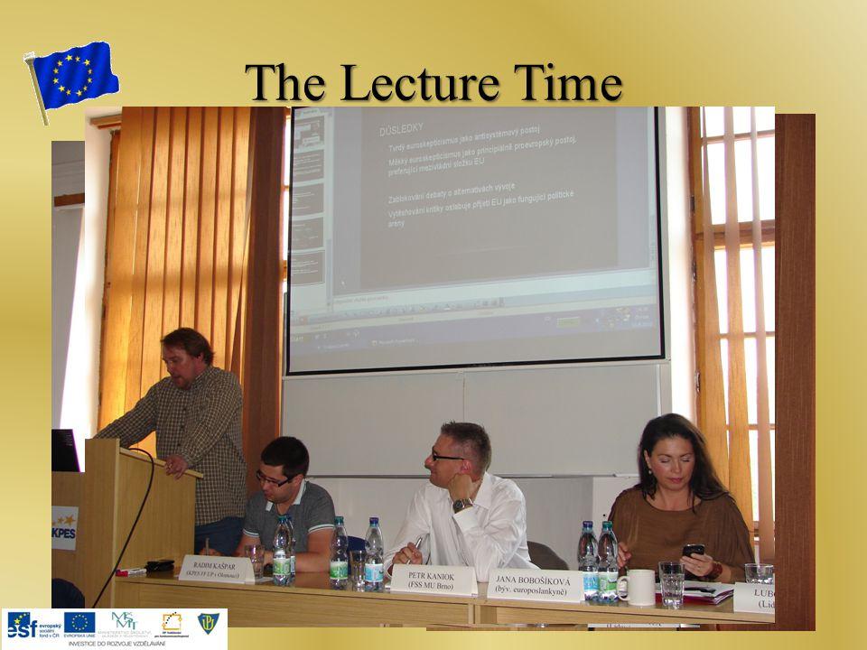The Lecture Time Jana Bobošíková Petr Kaniok Luboš Palata