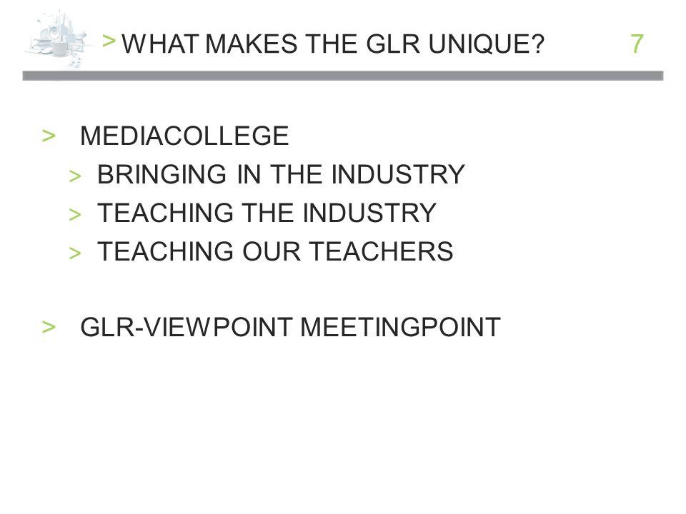 > 7WHAT MAKES THE GLR UNIQUE.