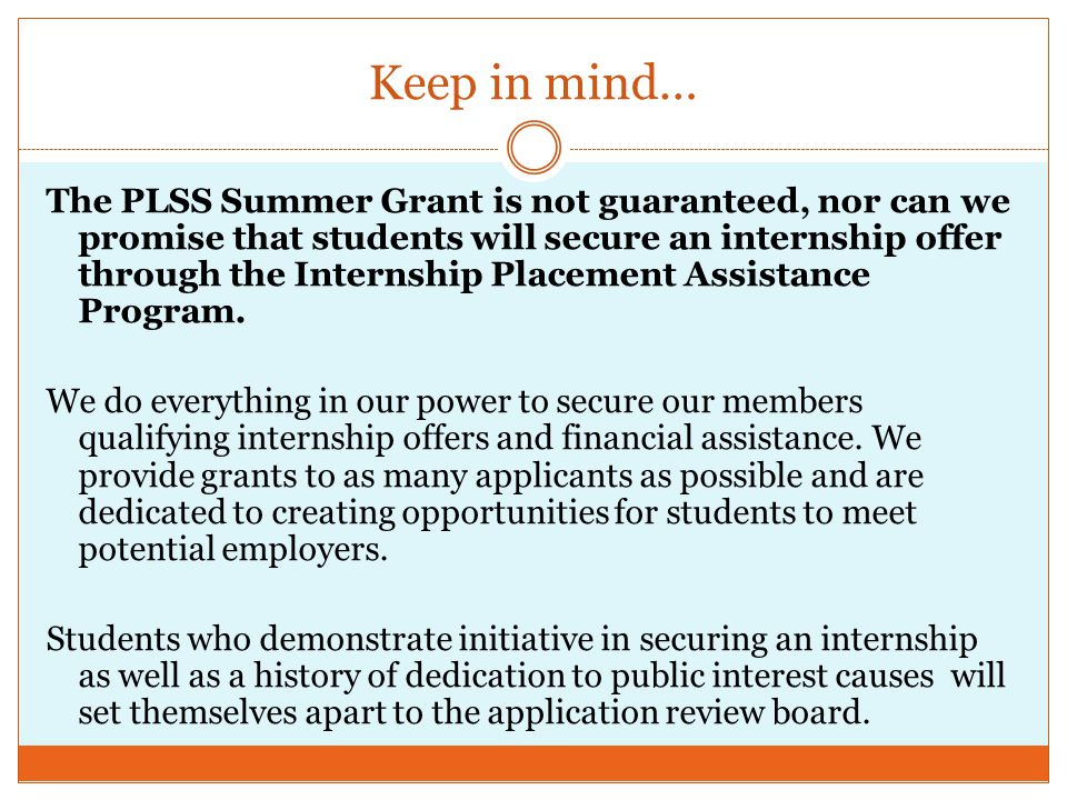 However… Last year, PLSS doled out $83,000 in Grant money to PLSS members.