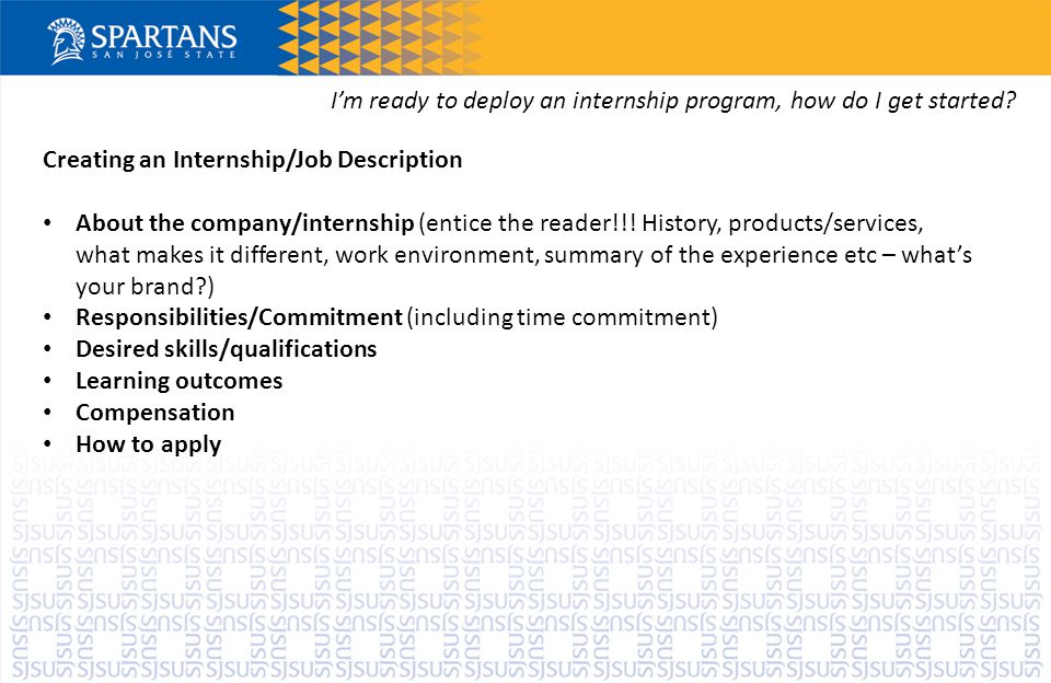 I'm ready to deploy an internship program, how do I get started.