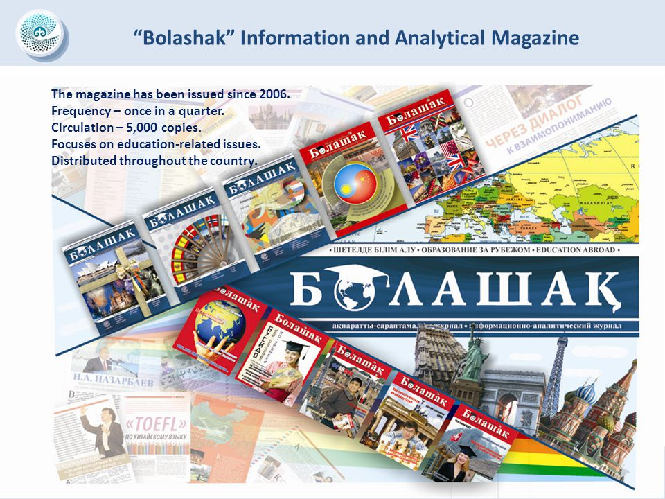 The magazine has been issued since 2006. Frequency – once in a quarter. Circulation – 5,000 copies. Focuses on education-related issues. Distributed t
