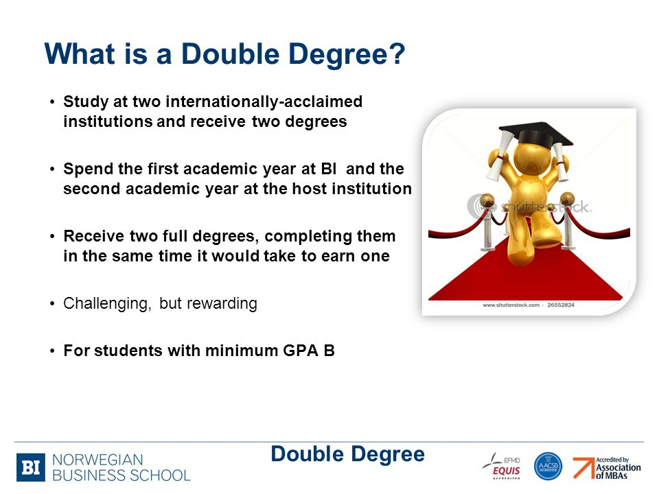 What is a Double Degree.