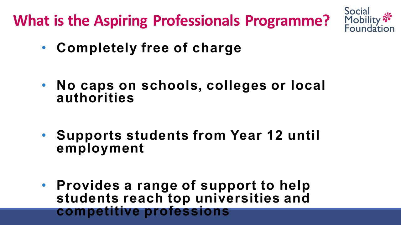 What is the Aspiring Professionals Programme.