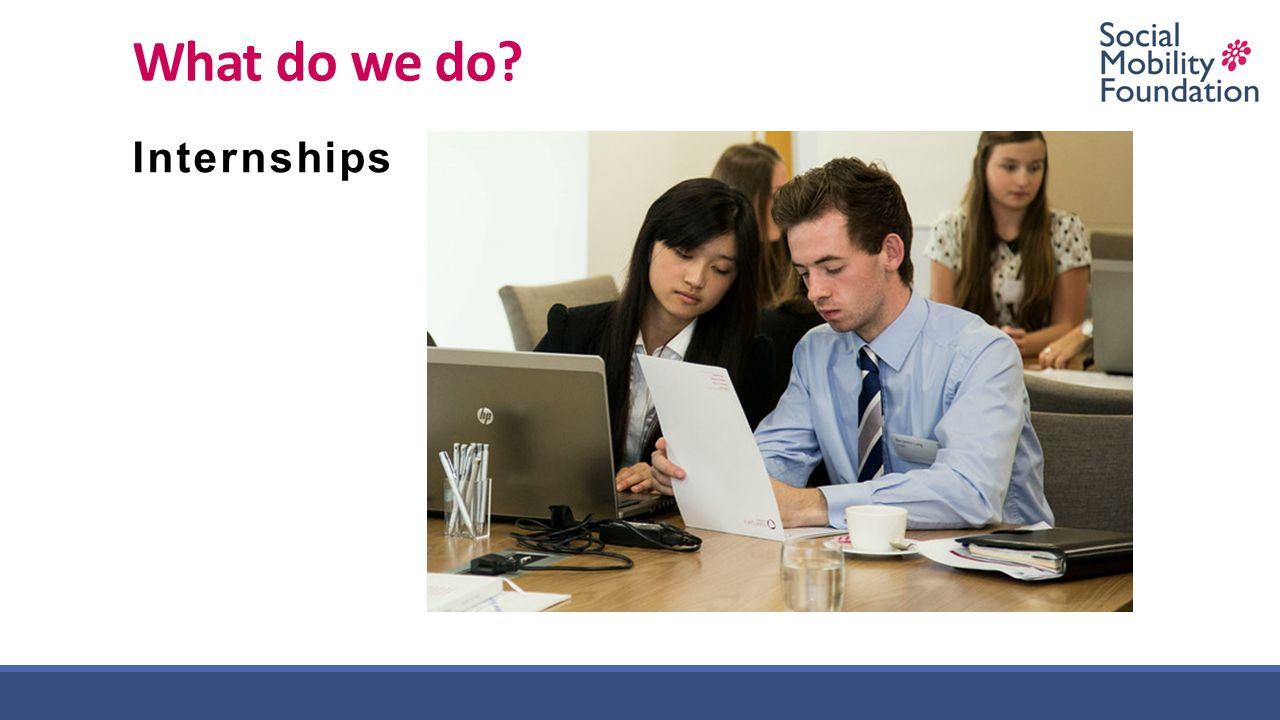 What do we do? Internships