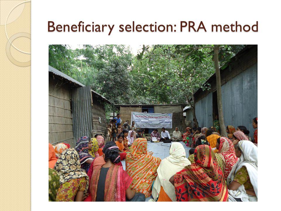 Beneficiary selection: PRA method