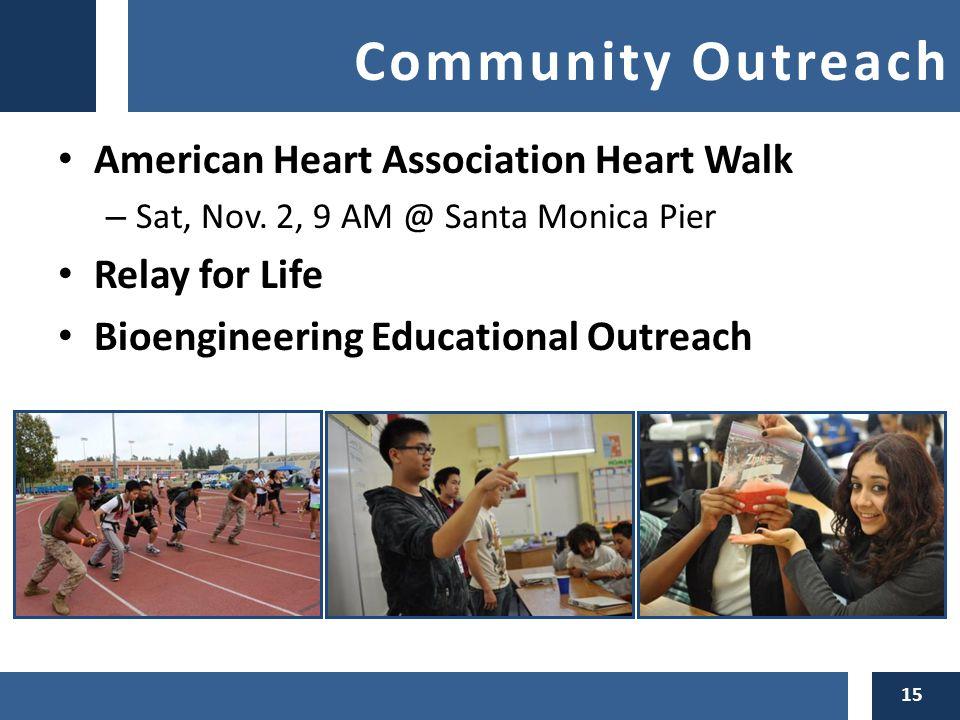 Community Outreach American Heart Association Heart Walk – Sat, Nov.