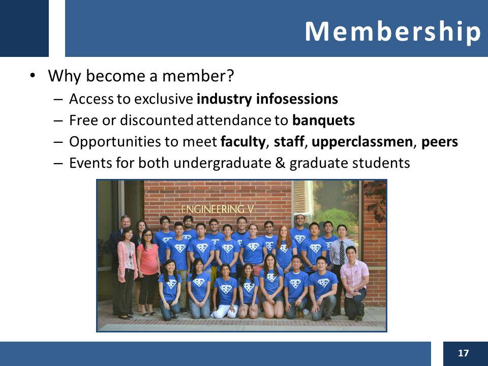 Membership Why become a member.