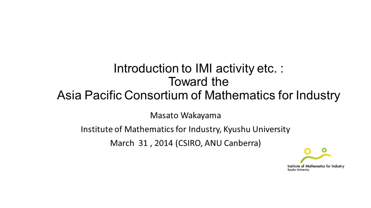 Introduction to IMI activity etc.