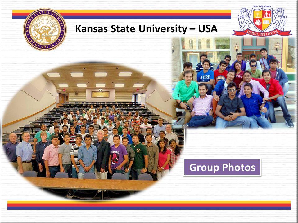 Kansas State University – USA Group Photos
