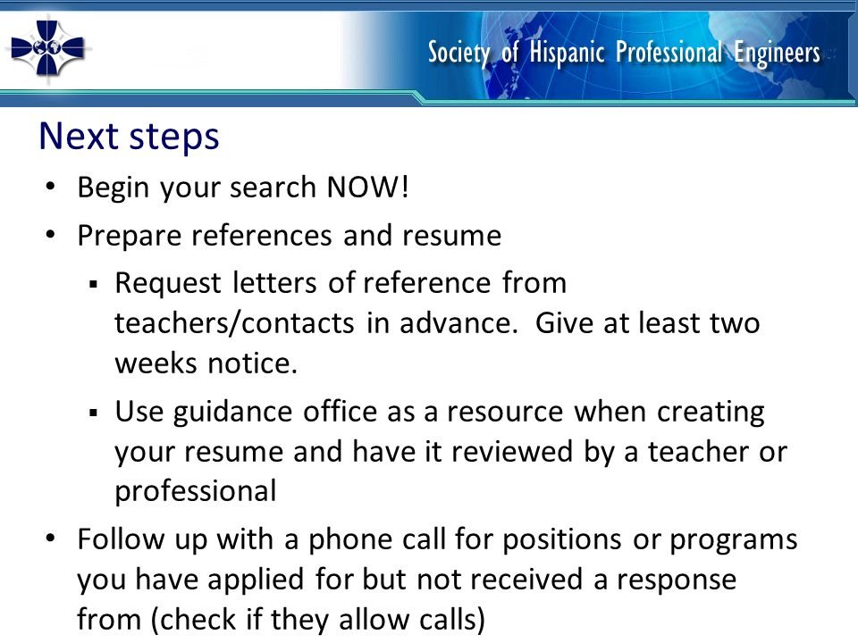 Interview tips Research the company/program  Have a general idea of the company/university's history and mission.