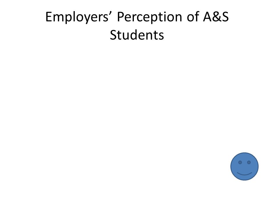 Employers' Perception of A&S Students