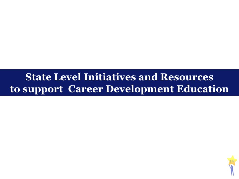 14 State Level Initiatives and Resources to support Career Development Education