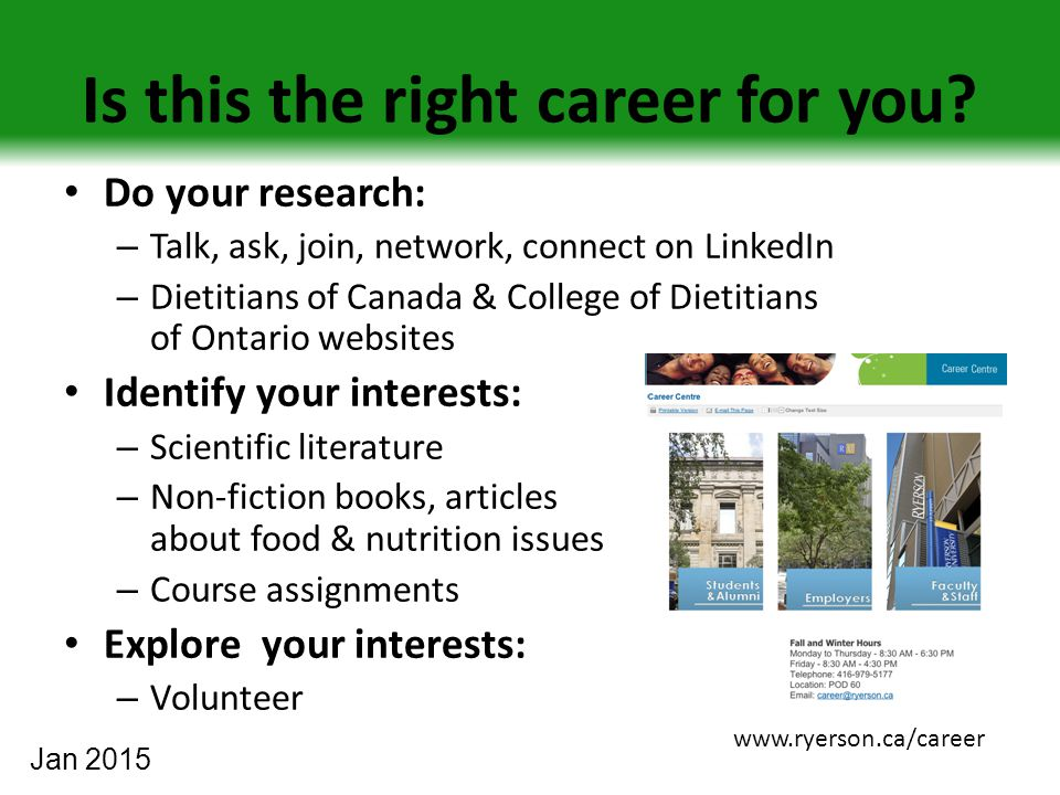 Is this the right career for you.