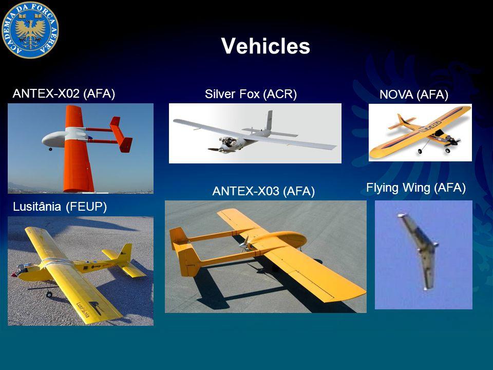 Vehicles ANTEX-X02 (AFA) Silver Fox (ACR) Lusitânia (FEUP) ANTEX-X03 (AFA) NOVA (AFA) Flying Wing (AFA)