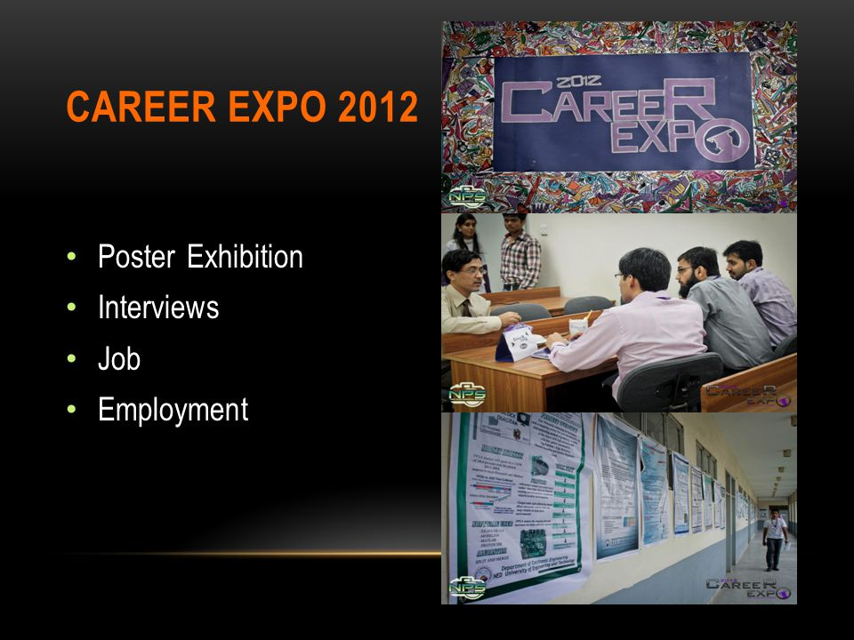 Poster Exhibition Interviews Job Employment CAREER EXPO 2012