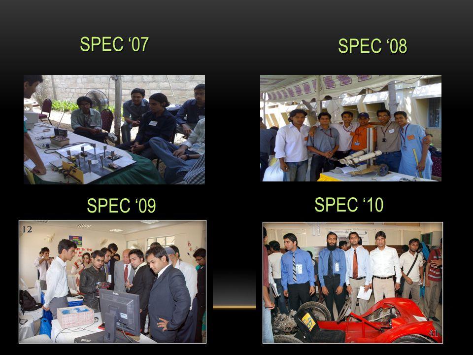 SPEC '07 SPEC '08 SPEC '09 SPEC '09 SPEC '10