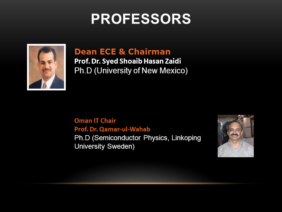 Oman IT Chair Prof.Dr.