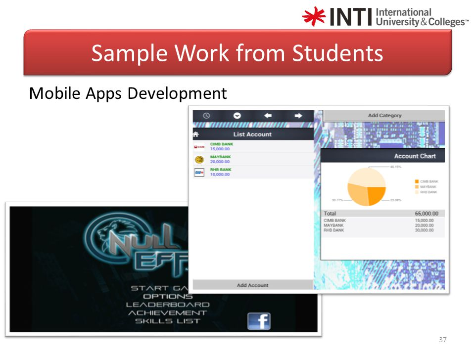 37 Mobile Apps Development Sample Work from Students