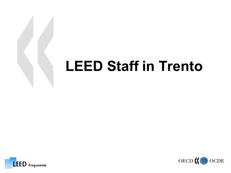13 LEED Staff in Trento