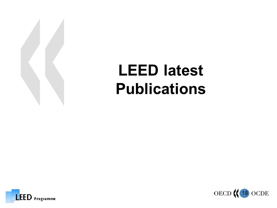 18 LEED latest Publications