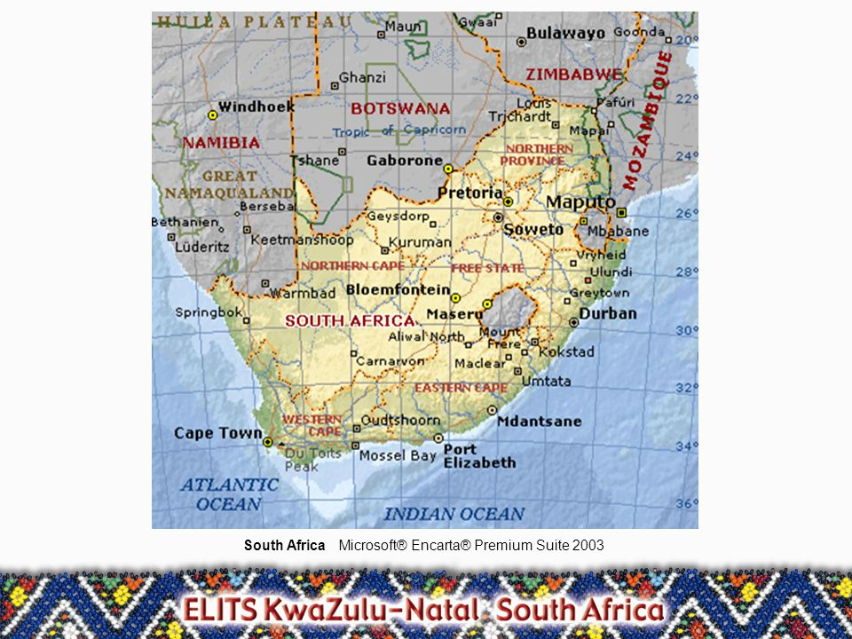 South AfricaMicrosoft® Encarta® Premium Suite 2003