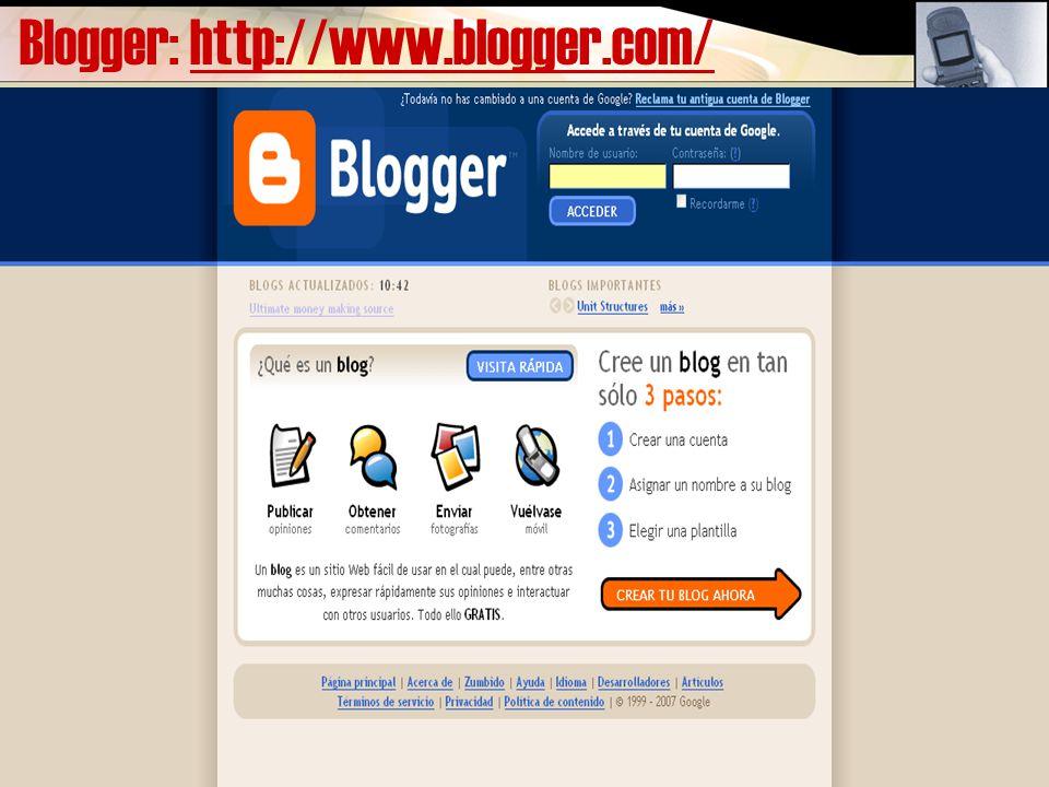 Blogger: http://www.blogger.com/http://www.blogger.com/