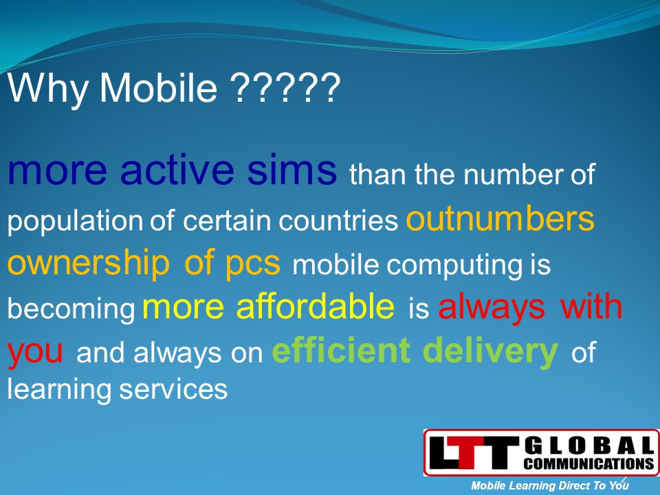 3 Mobile Learning Direct To You