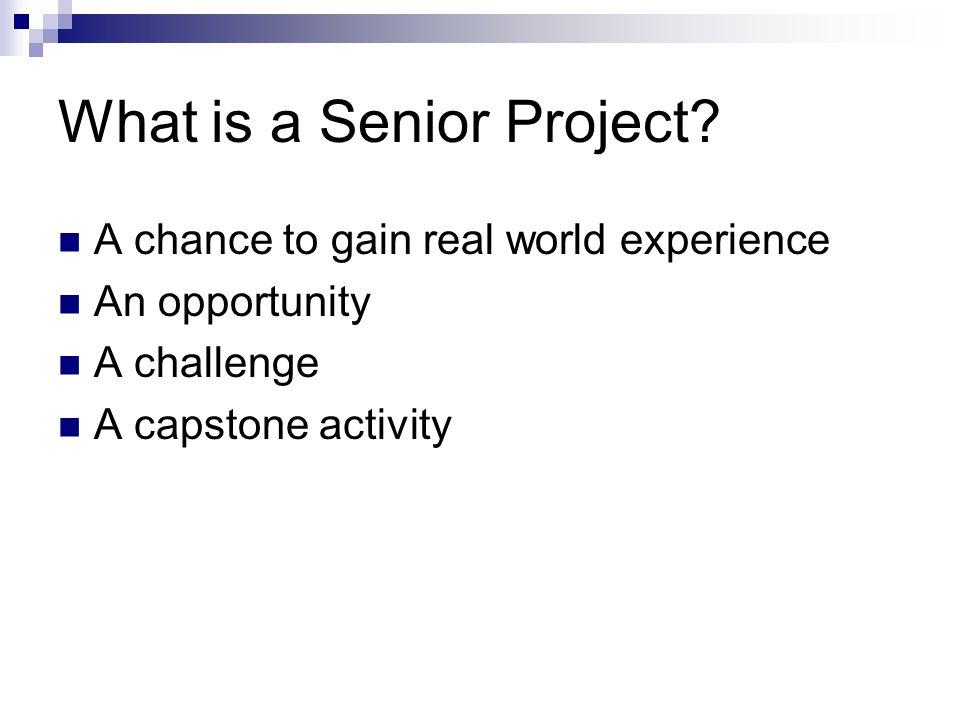 Senior Project Presentation Thursday, May 31, 2012