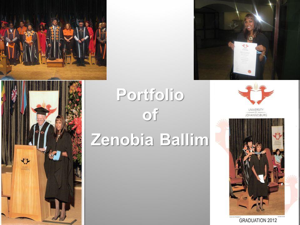 Portfolio of Zenobia Ballim