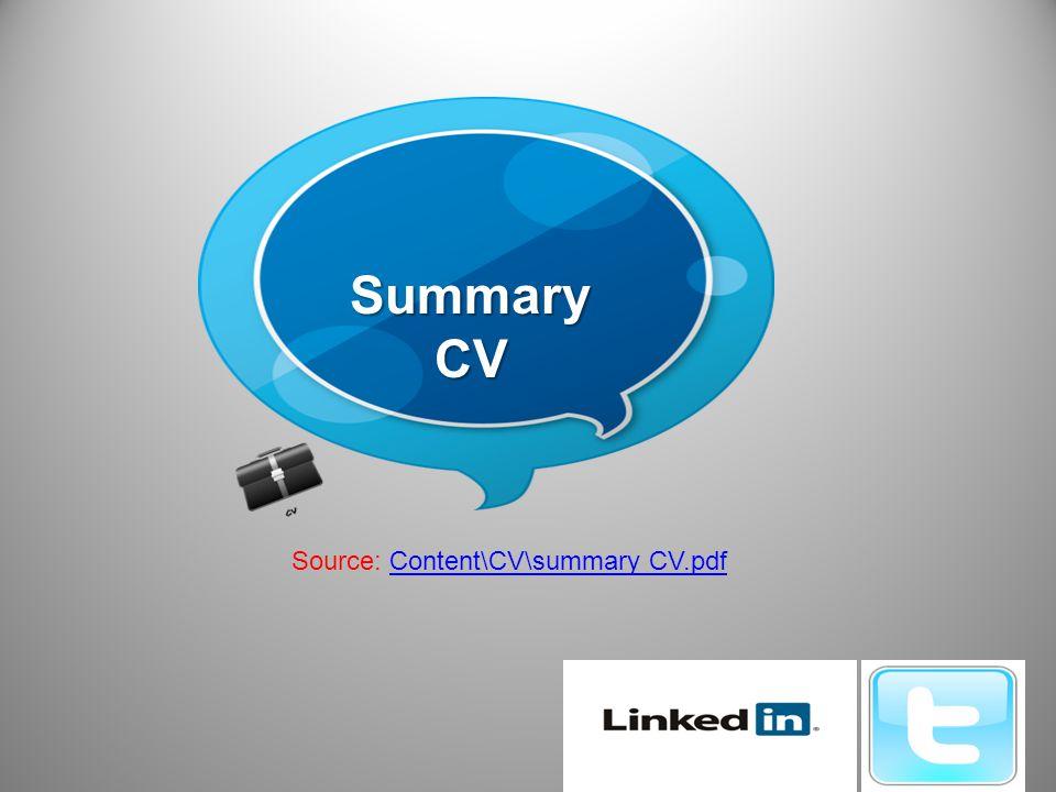 Summary CV Source: Content\CV\summary CV.pdfContent\CV\summary CV.pdf