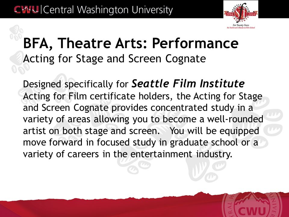 The BFA Performance program is designed to prepare knowledgeable, skilled graduates who will compete at all levels in an increasingly competitive field.