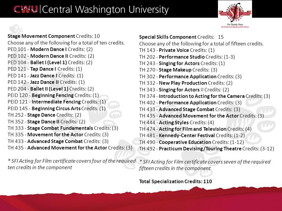 Contact Information: Seattle Film Institute 3210 16th Ave W Seattle, WA 98119 (800) 882-4734 (206) 568-4387 info@seattlefilminstitute.com info@seattlefilminstitute.com Central Washington University – Theatre Arts Central Washington University – Theatre Arts 400 E University Way 102 McConnell Hall Ellensburg, WA 98926-7460 (509) 963-1750 Theatre@cwu.edu