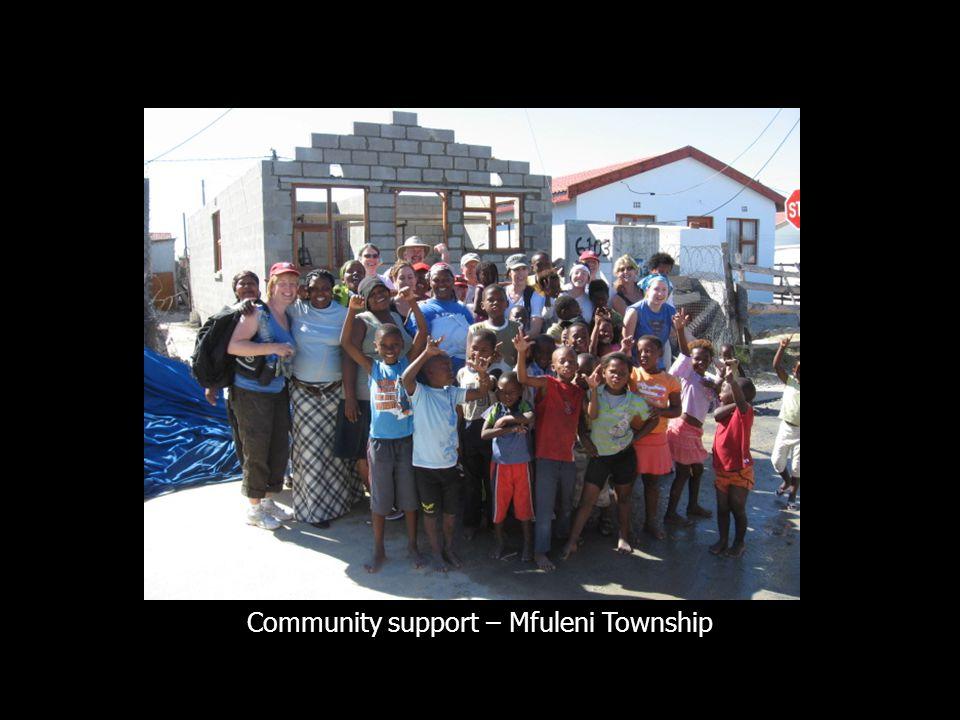 Community support – Mfuleni Township