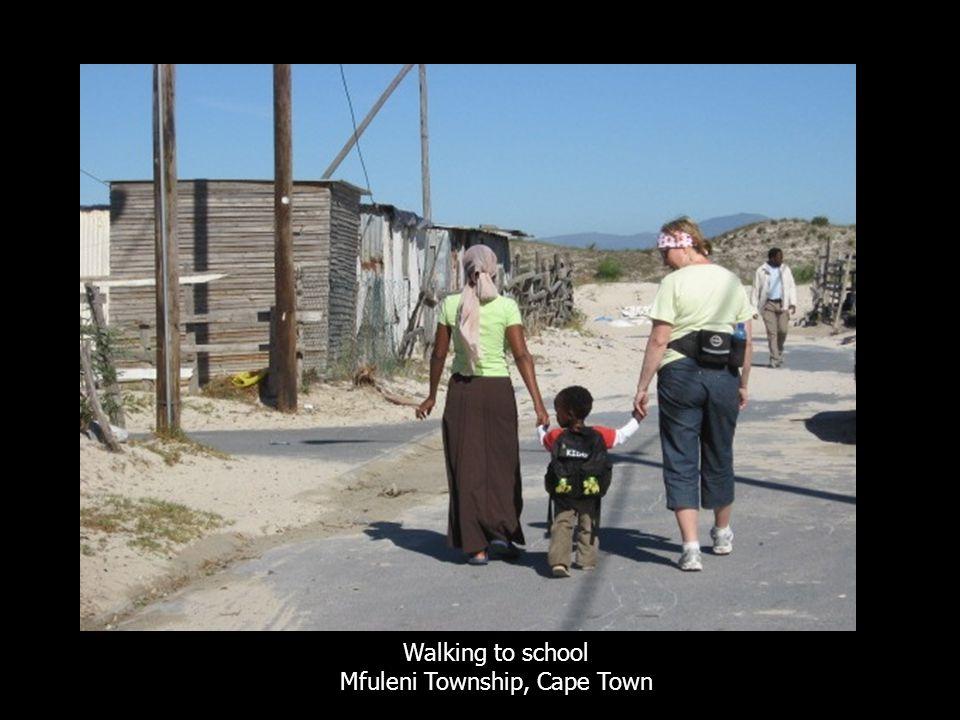 Walking to school Mfuleni Township, Cape Town