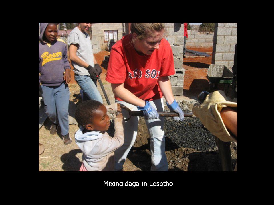 Mixing daga in Lesotho