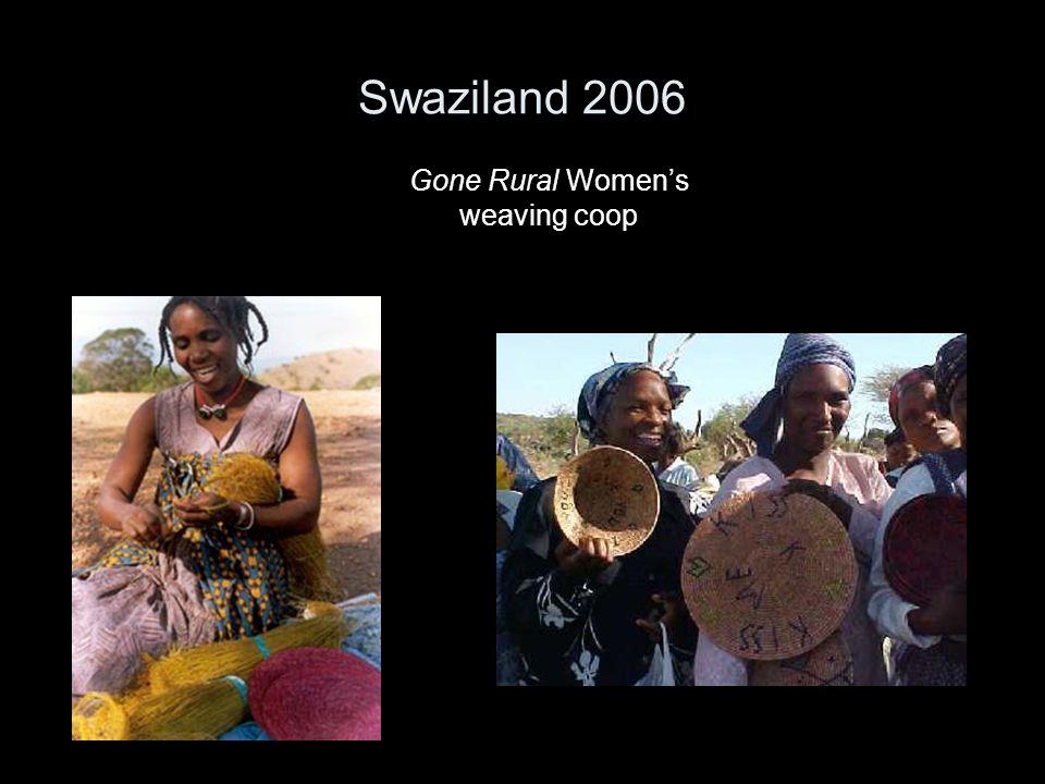 Swaziland 2006 Gone Rural Women's weaving coop