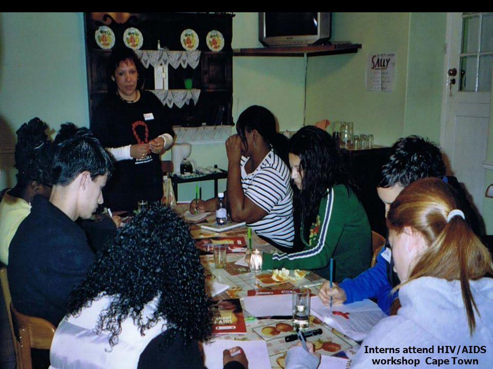 HIV/AIDS Class Interns attend HIV/AIDS workshop Cape Town