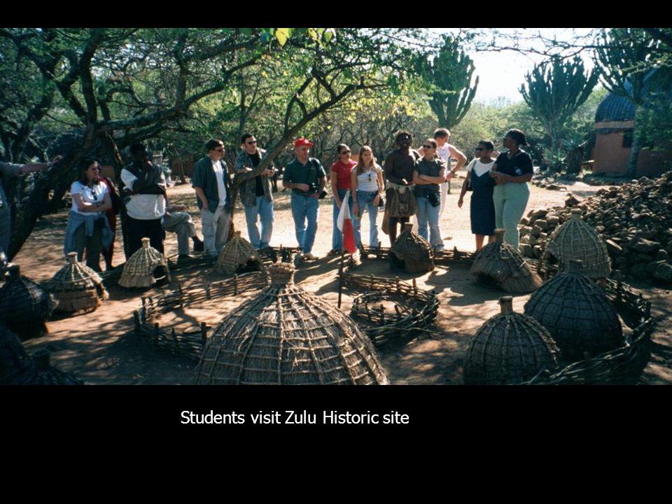 ZULU Historic site Students visit Zulu Historic site