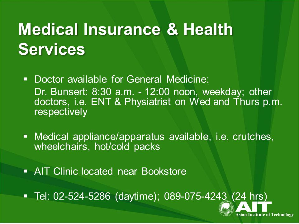 Medical Insurance & Health Services  Doctor available for General Medicine: Dr.