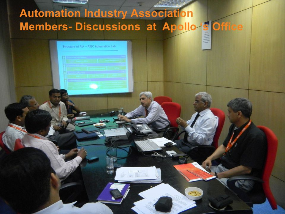 Automation Industry Association Members- Discussions at Apollo 's Office