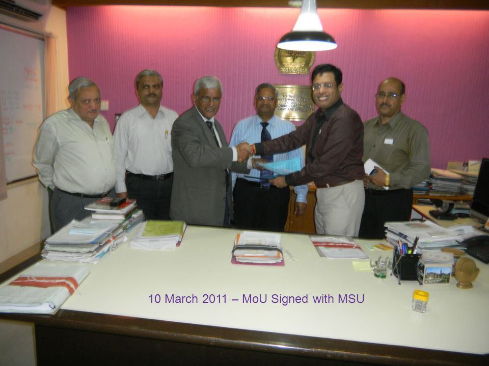 10 March 2011 – MoU Signed with MSU