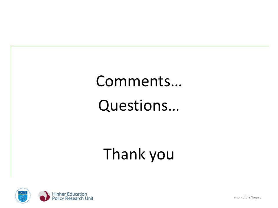 www.dit.ie/hepru Comments… Questions… Thank you