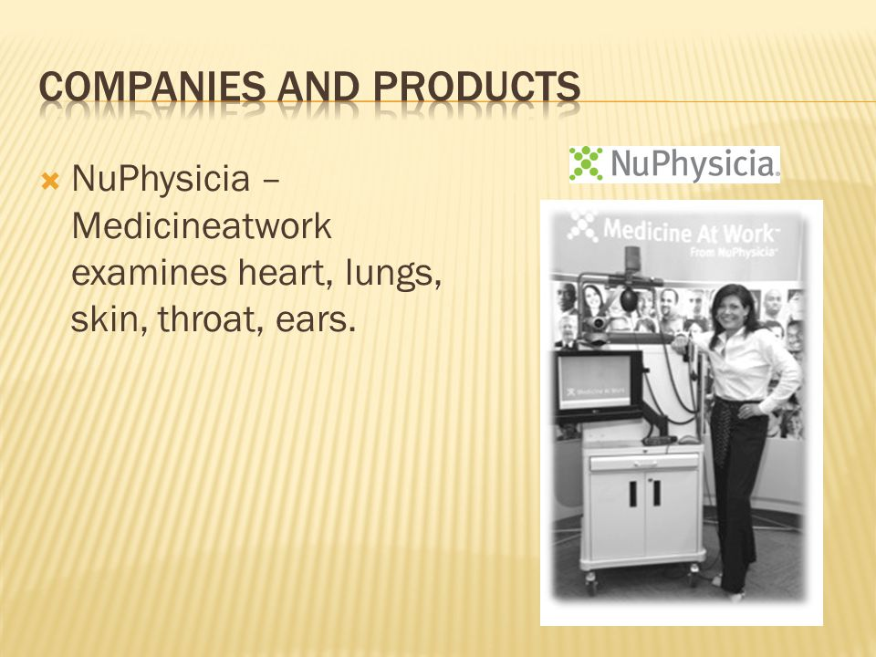  NuPhysicia – Medicineatwork examines heart, lungs, skin, throat, ears.