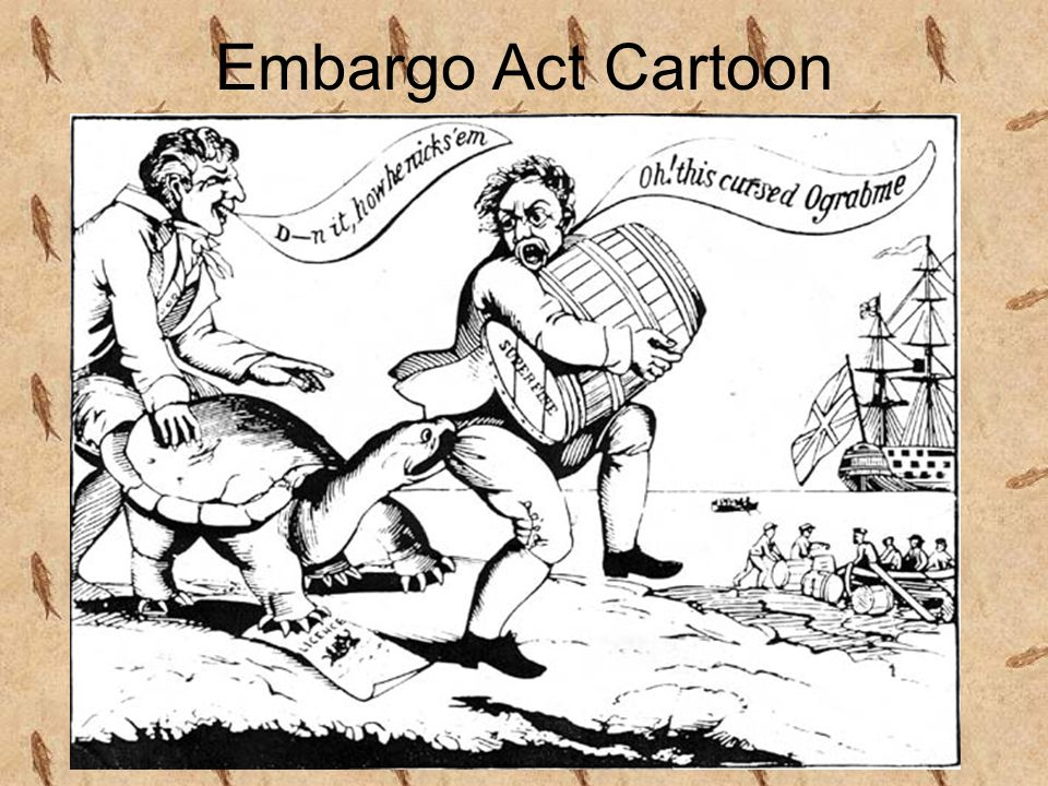 Embargo Act Cartoon